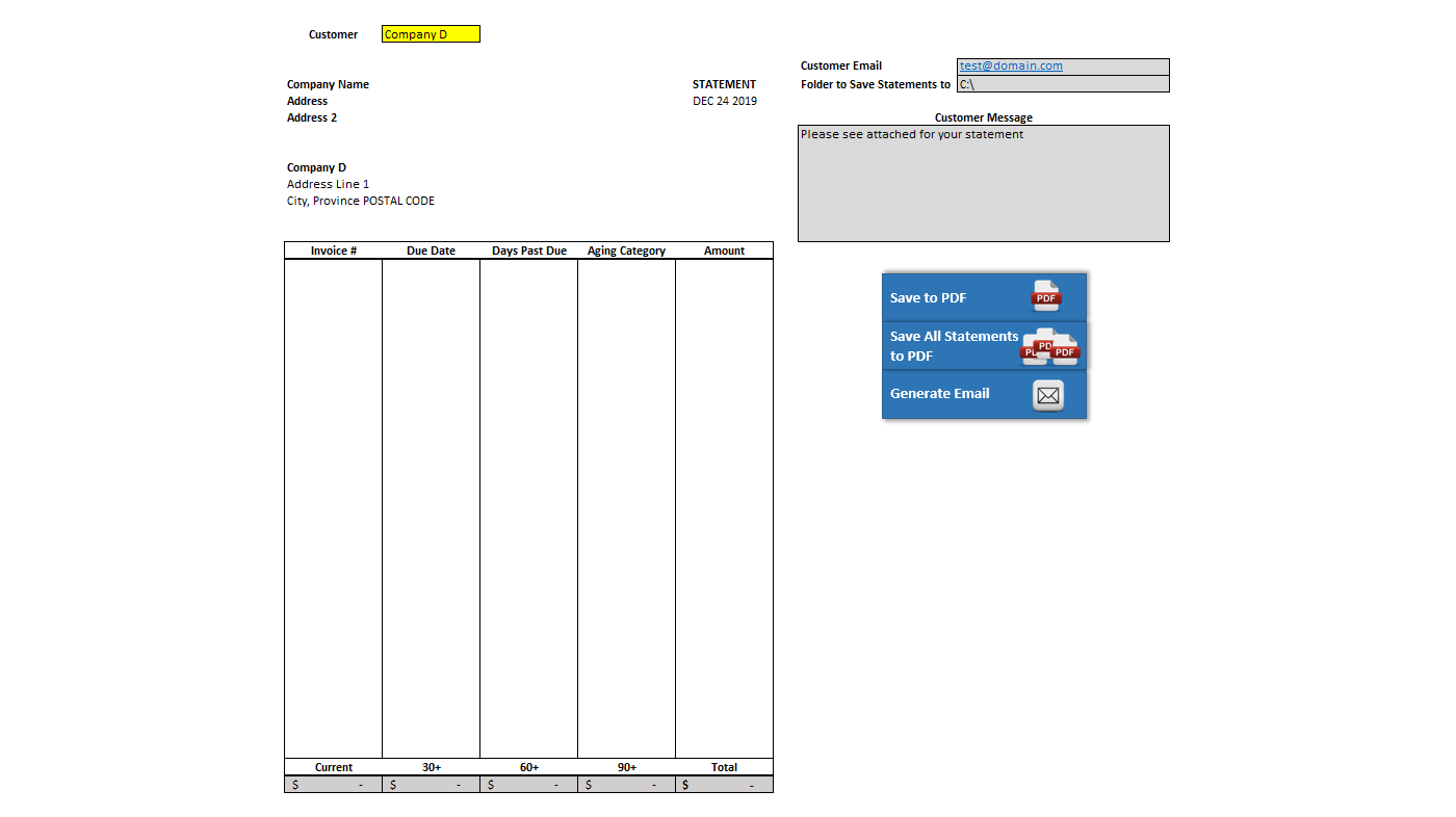 Accounts Receivable Statement With Vba Howtoexcel Net