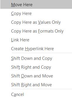 right click copy paste menu