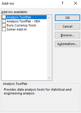 excel add-ins data analysis