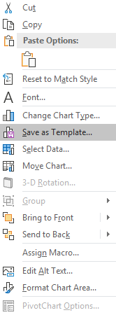 excel chart save template