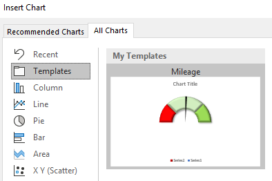 excel chart template