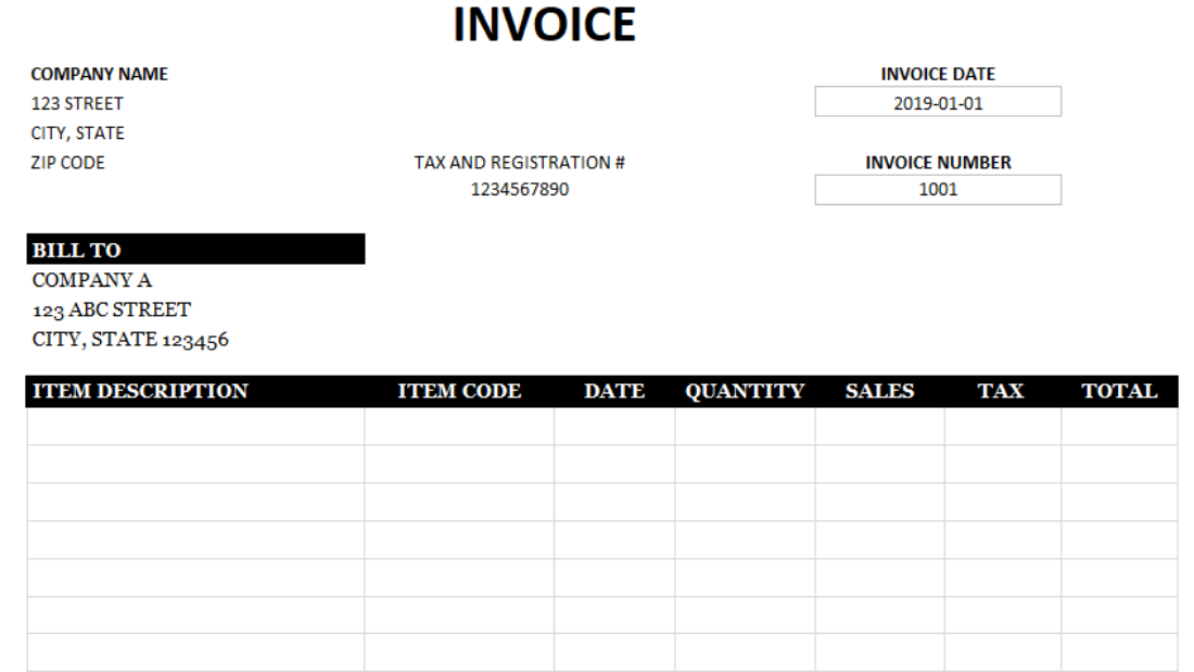 Blank Invoice Template Howtoexcel Net