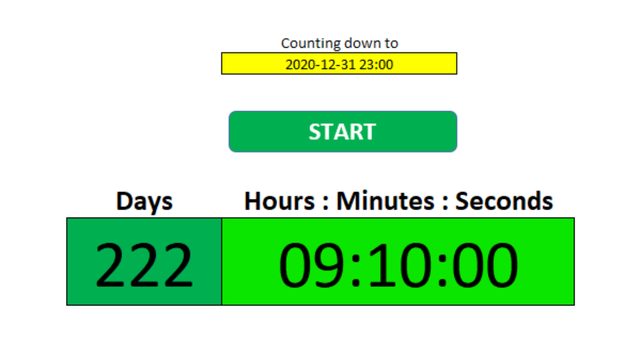 How to Make a Countdown Timer in Excel   HowtoExcel.net